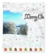 Christmas Card 24 Fleece Blanket