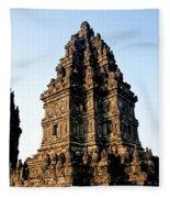 Prambanan Temple In Indonesia Fleece Blanket
