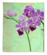 Purple Orchid-11 Fleece Blanket