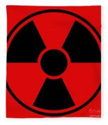 Radiation Warning Sign Fleece Blanket