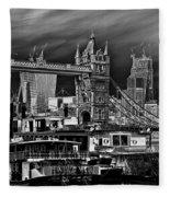 River Thames Art Fleece Blanket