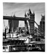 River Thames View Fleece Blanket