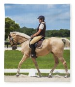 Rocking Horse Stables Fleece Blanket