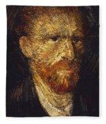Self-portrait Fleece Blanket