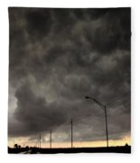 Severe Warned Nebraska Storm Cells Fleece Blanket
