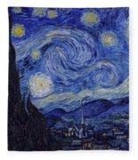 Starry Night Fleece Blanket