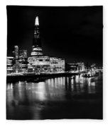 The Shard And Southbank London Fleece Blanket