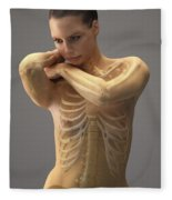 The Skeletal System Female Fleece Blanket