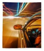 Traveling At Speed Of Light Fleece Blanket