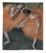 Two Dancers Fleece Blanket