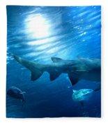 Underwater View Fleece Blanket