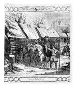Valley Forge, Winter 1777 Fleece Blanket