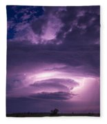 Wicked Good Nebraska Supercell Fleece Blanket