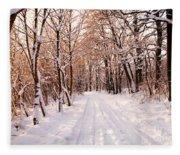 Winter White Forest Fleece Blanket