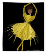 8 Yellow Ballerina Fleece Blanket