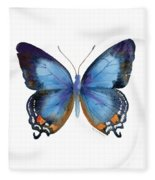 80 Imperial Blue Butterfly Fleece Blanket