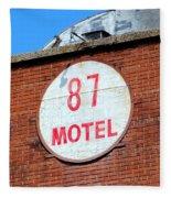 87 Motel Fleece Blanket