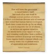 87- Robert F. Kennedy  Fleece Blanket