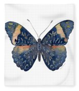 89 Red Cracker Butterfly Fleece Blanket
