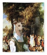 Italian Greyhound Art Canvas Print  Fleece Blanket