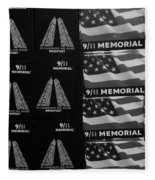 9/11 Memorial For Sale In Black And White Fleece Blanket