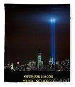 9/11 Tribute Fleece Blanket