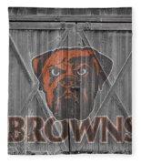 Cleveland Browns Fleece Blanket by Joe Hamilton