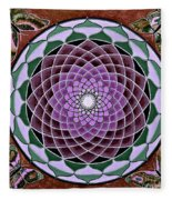 Cosmic Flower Mandala 6 Fleece Blanket