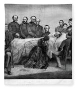 Death Of Lincoln, 1865 Fleece Blanket