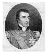 Duke Of Wellington (1769-1852) Fleece Blanket