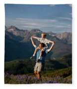 Family Hiking Fleece Blanket