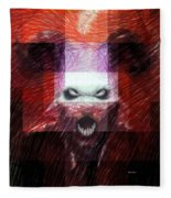 Halloween Mask Fleece Blanket