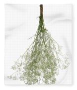 Hanging Dried Flowers Bunch Fleece Blanket