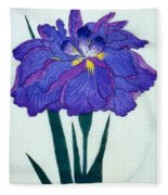 Japanese Flower Fleece Blanket