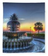 Pineapple Glowing Fleece Blanket