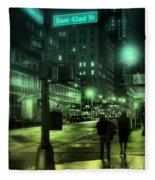 9 P M In The City Fleece Blanket