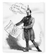 Prince Otto Von Bismarck  Fleece Blanket