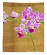 Purple Orchid-12 Fleece Blanket