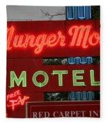 Route 66 - Munger Moss Motel Fleece Blanket