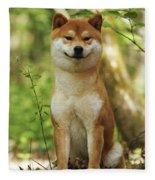 Shiba Inu Dog Fleece Blanket