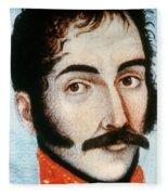 Simon Bolivar (1783-1830) Fleece Blanket