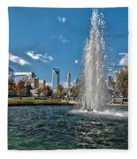 Skyline Of Uptown Charlotte North Carolina Fleece Blanket