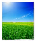 Summer Landscape Fleece Blanket