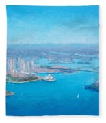 Sydney Harbour And The Opera House Aerial View  Fleece Blanket