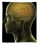 The Human Brain Fleece Blanket