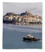 Views From Corfu Greece Fleece Blanket