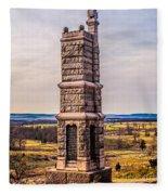 91st Pennsylvania Infantry Monument Fleece Blanket