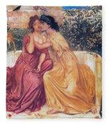 Sappho And Erinna In A Garden Fleece Blanket