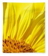 #923 D718 You Are My Sunshine. Sunflower On Colby Farm Fleece Blanket