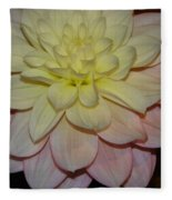 #928 D809 Dahlia Pink White Yellow Dahlia Thoughts Of You Fleece Blanket